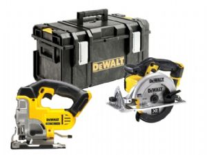 DeWalt 18V XR DCS331N Jigsaw & DCS391N Circular Saws - Bare Units in DS300 Kitbox